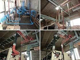 冷媒配管の配管工事