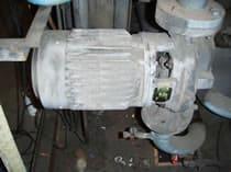 冷却ポンプのメンテナンス
